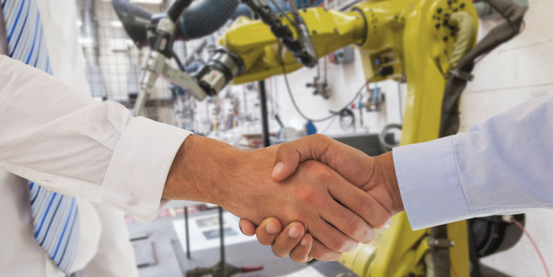 Custom Manufacturer Handshake