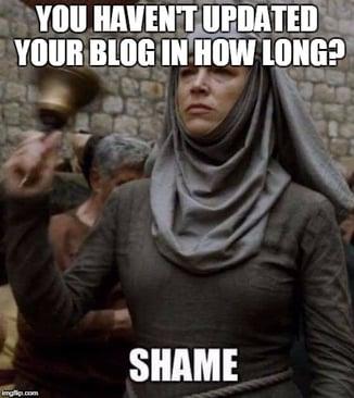 Shame On Your Bad Blog