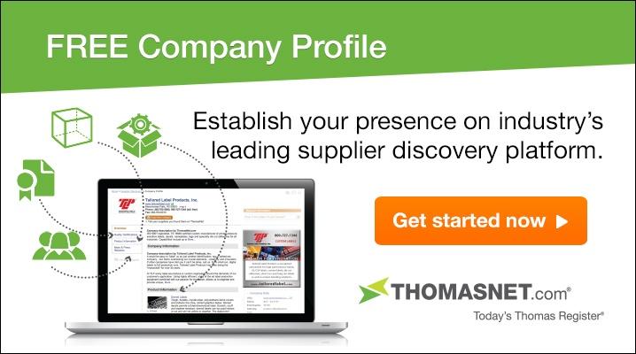 Get Your Free THOMASNET.com Profile