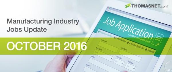 Manufacturing Jobs Updtate October