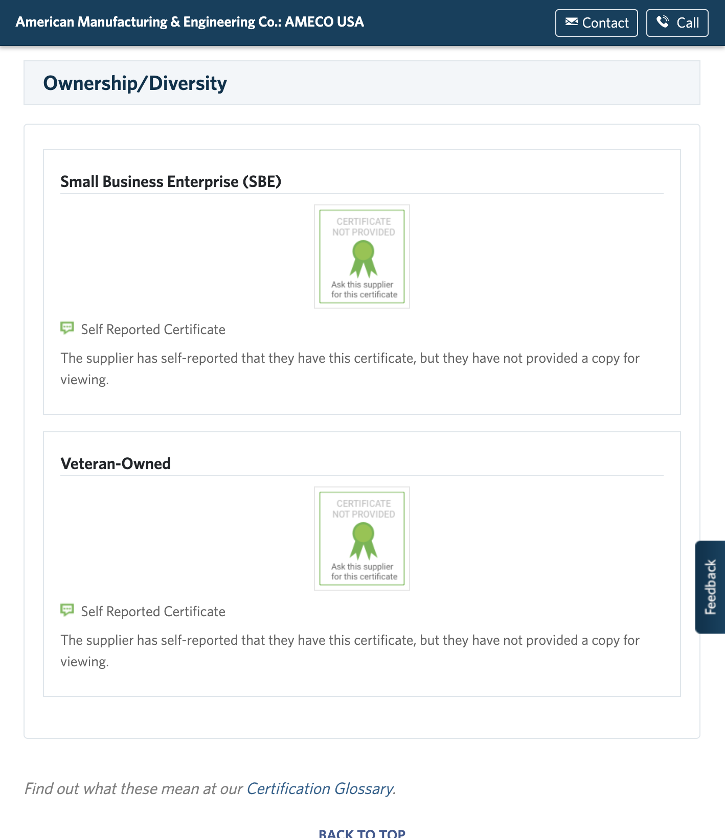 AMECO Ownership & Diversity