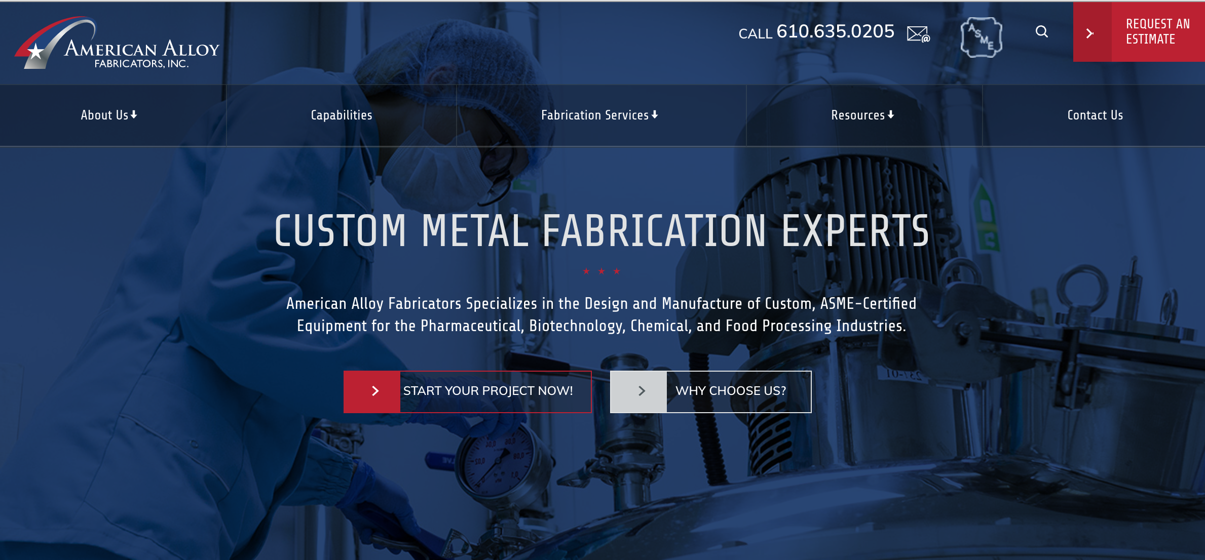 American Alloy - Industrial Website Example