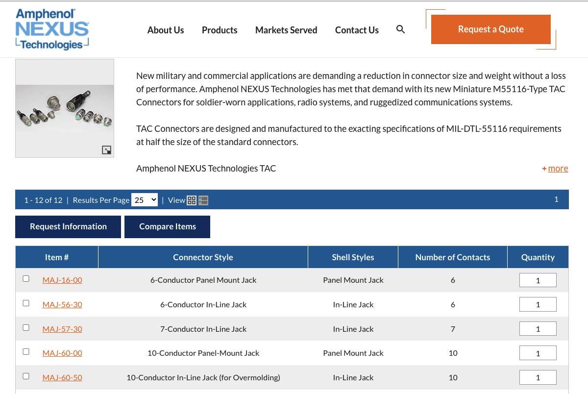 Amphenol Nexus Technologies - OEM Website Design Example