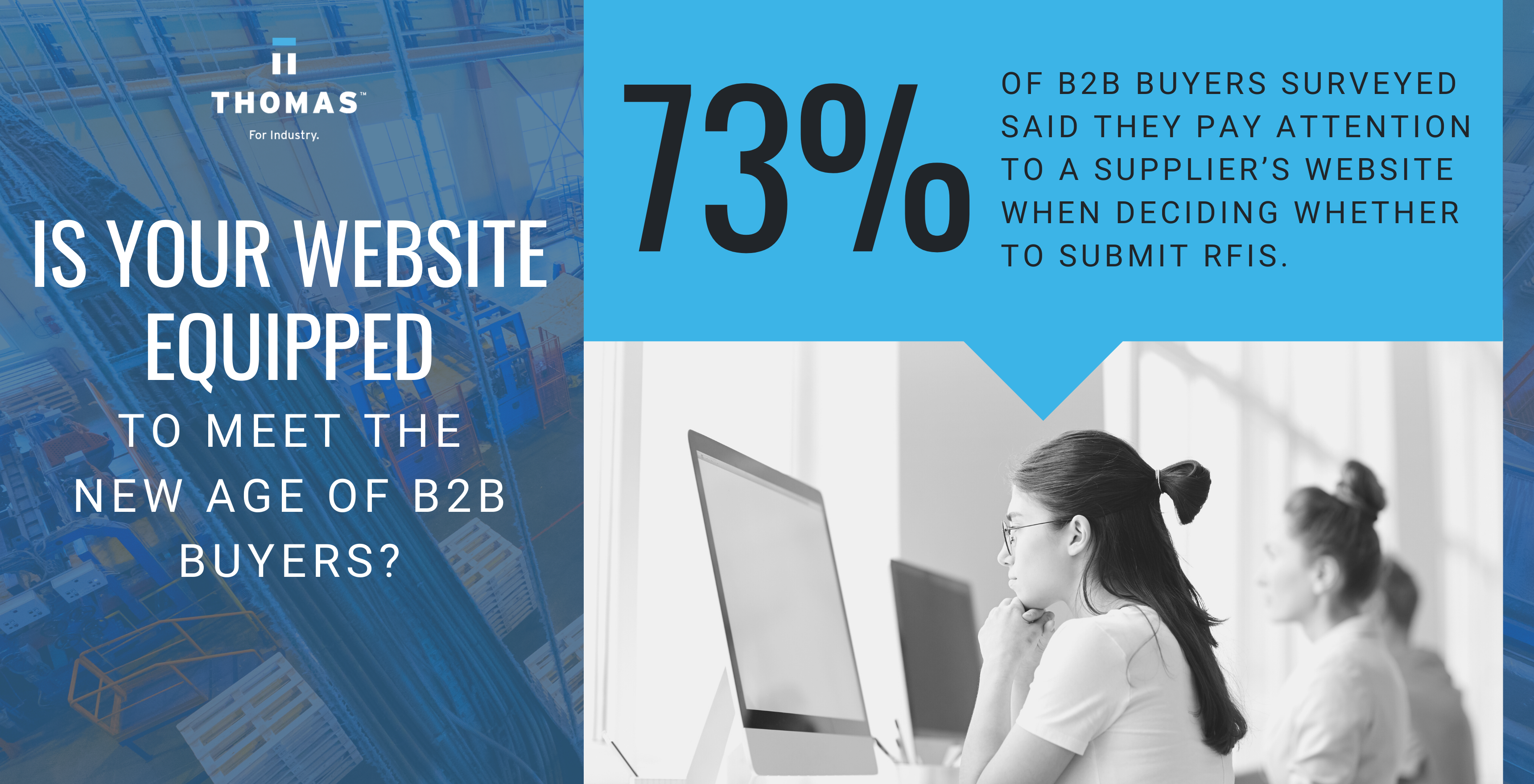 B2B Buyer Stats Infographic - Hire industrial marketing agency vs freelancer