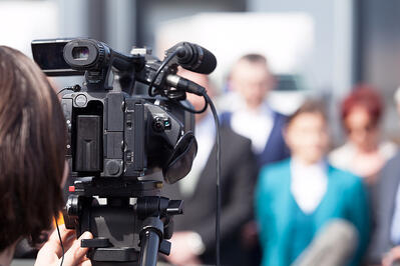 Filming company profile video
