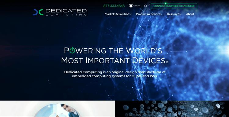 Dedicated Computing - Industrial Website Example