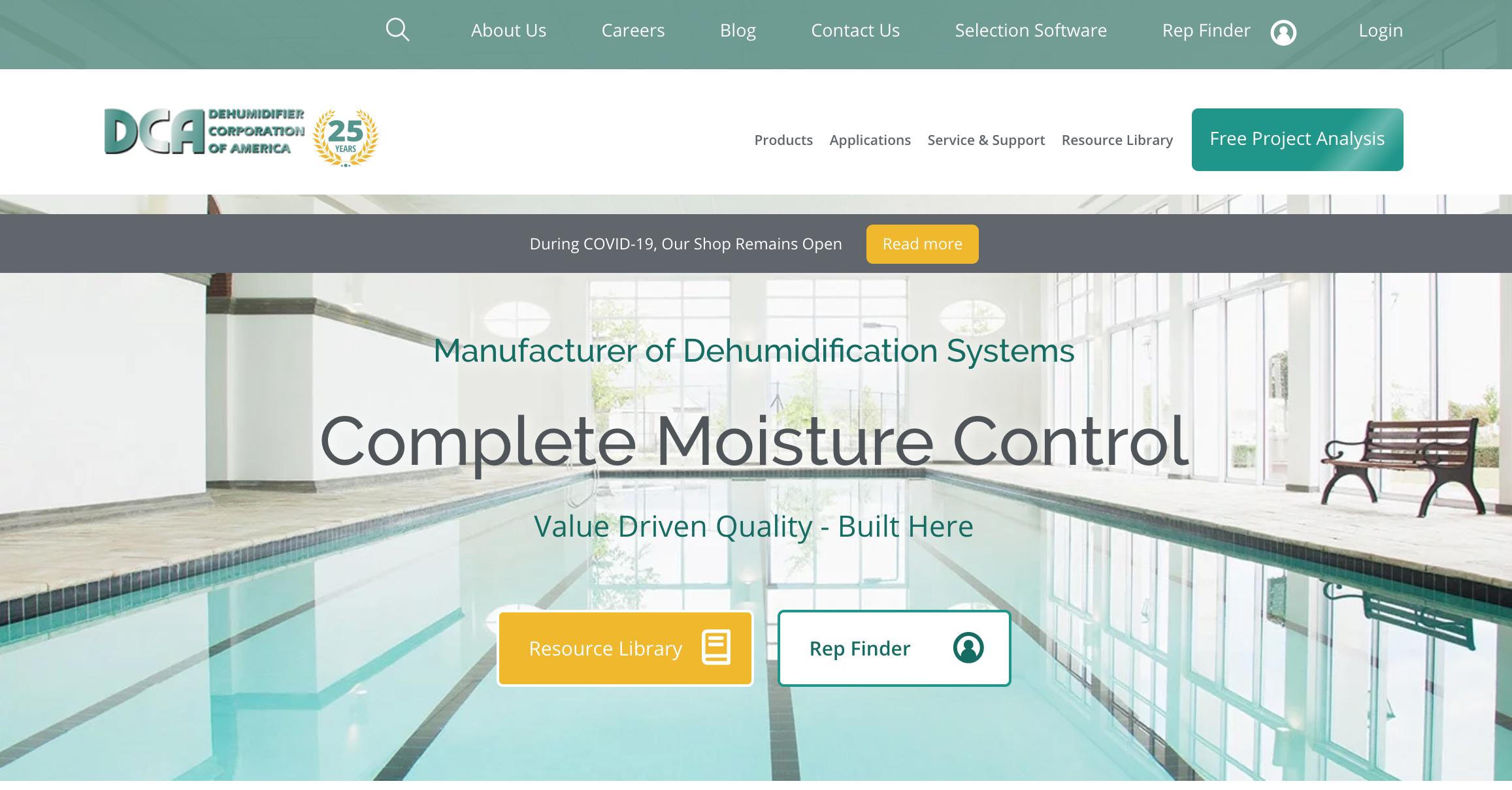 Dehumidifier Corp Website