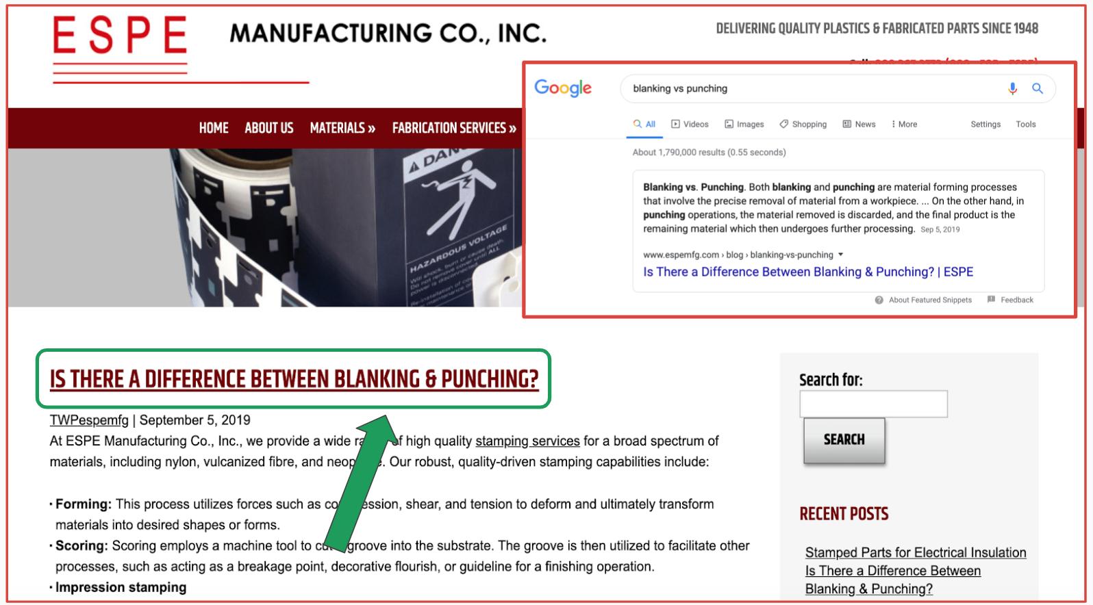 ESPE Manufacturing Blog Content