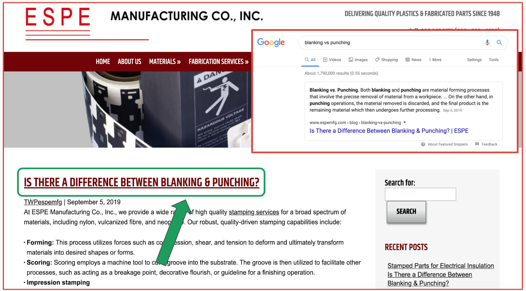ESPE Manufacturing Blog - Industrial Marketing Content Idea Example