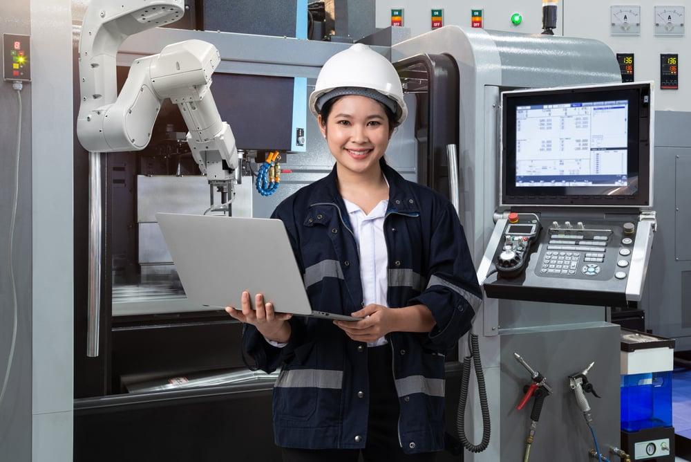 Female engineer automation technology