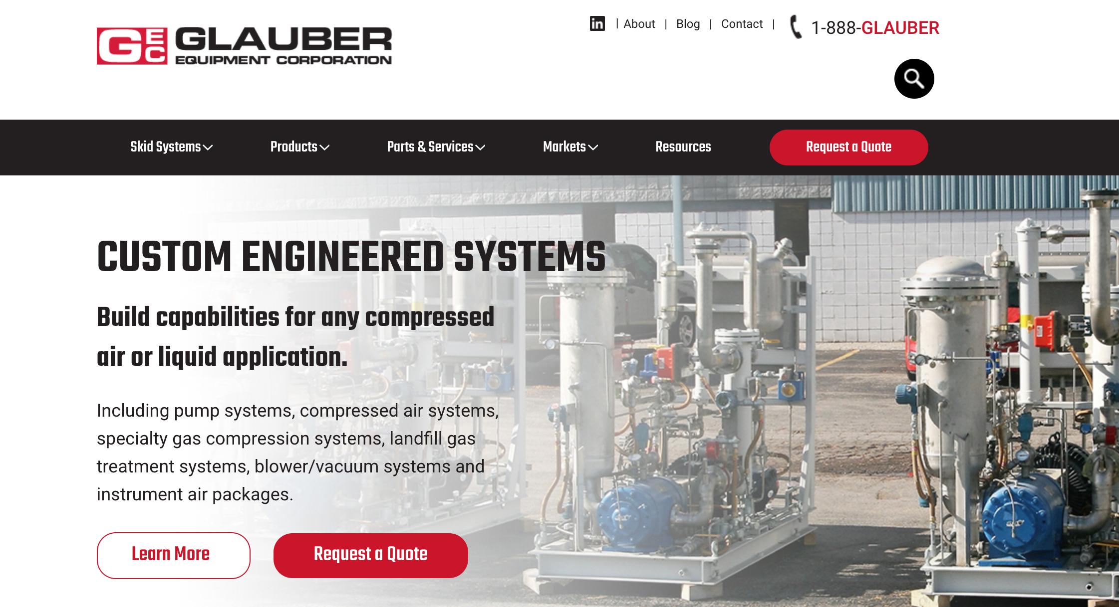 Glauber equipment website