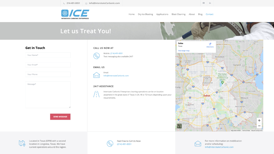 ICE Contact Us Page