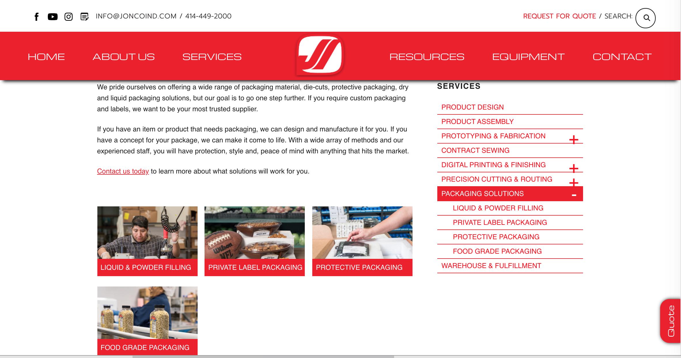 Jonco Industries Website