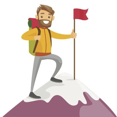 Man top of mountain