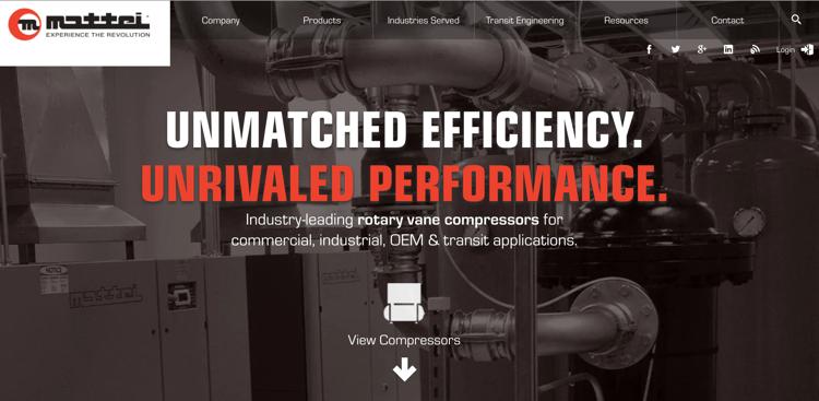 Mattei - Industrial Website Example