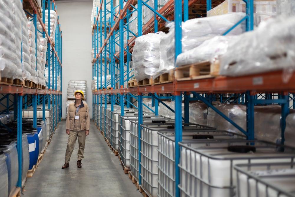 Millennial warehouse manufacturing worker