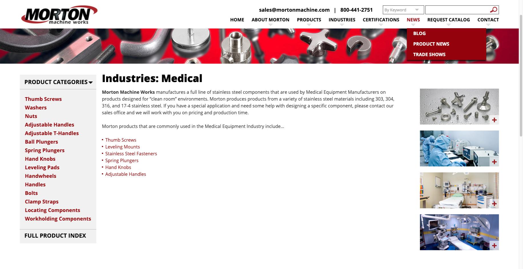 Morton Machine Works B2B eCommerce Example