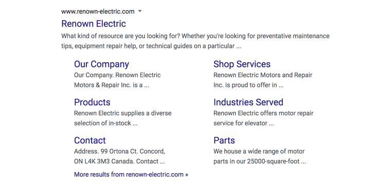 Renown Electric Title Tags SEO