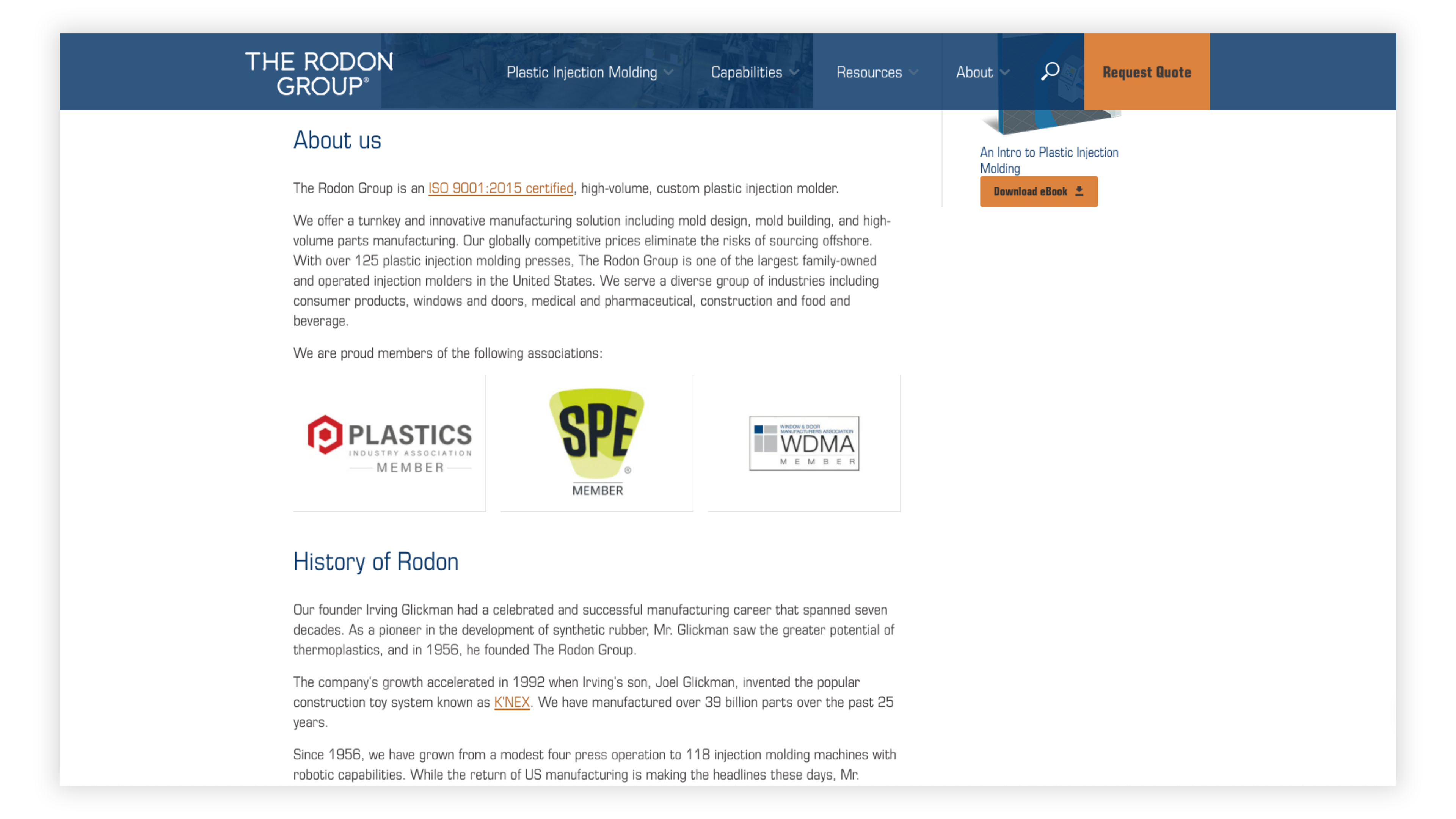 Rodon Group About Us Page