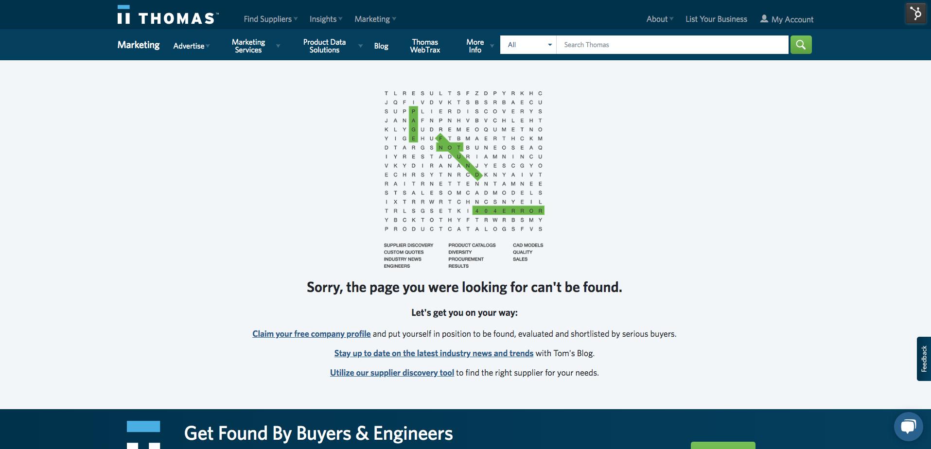 Thomas Network 404 Error