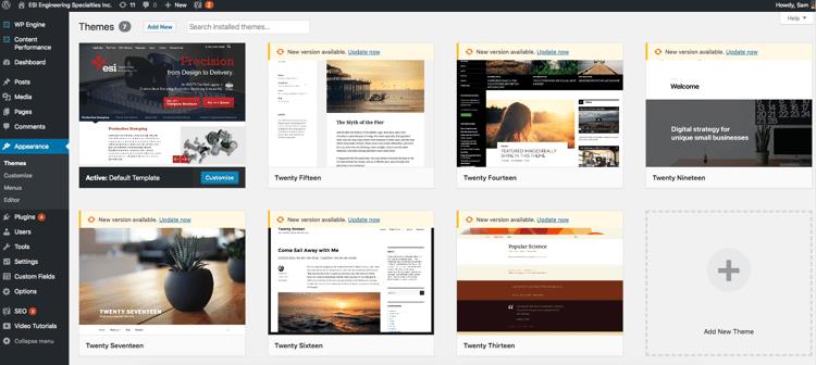Customizable Templates On Wordpress