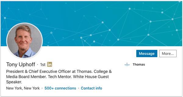 Tony Uphoff LinkedIn