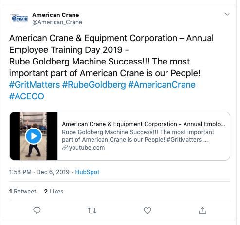 American Crane Twitter