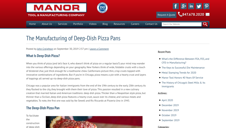 Manor Tool and Manufacturing Blog - Industrial Marketing Content