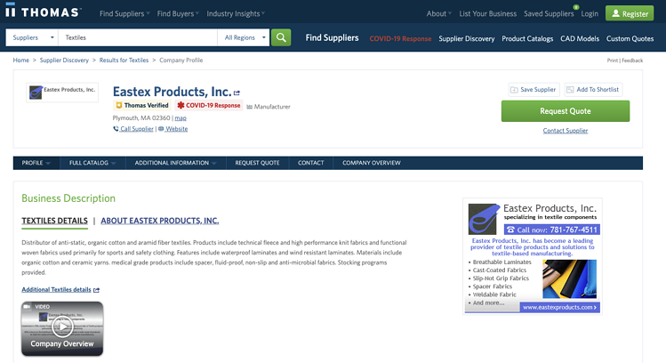 Eastex Products - Textile Manufacturer how to grow digital marketing