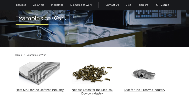 South Shore Manufacturing Website Example - CNC Machining