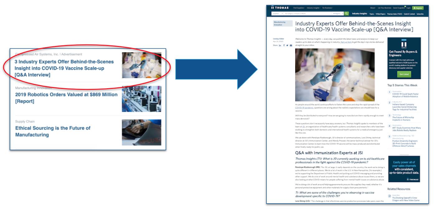 TIU Email Newsletter Spotlight Article - digital marketing for manufacturers