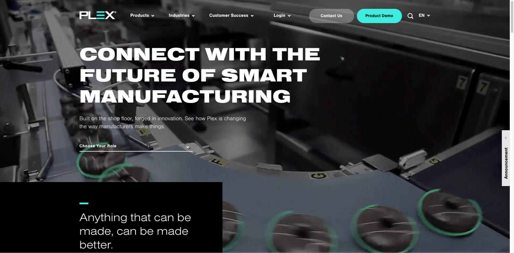 Industrial Website Design Example - The-Smart-Manufacturing-Platform-Plex