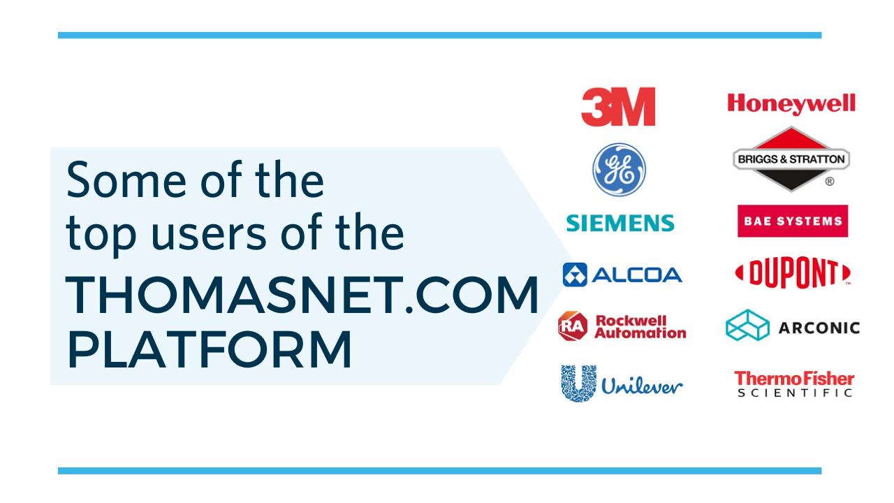 Thomasnet.com buyers top users