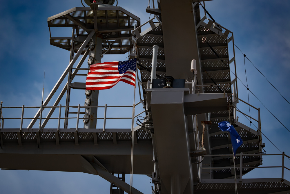United States flag on aircraft