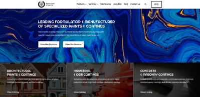 Custom manufacturing website design examples