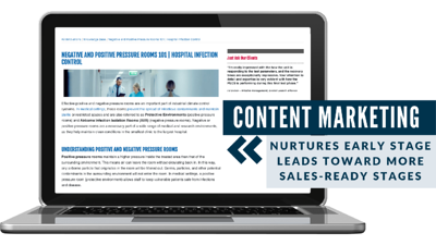 Content marketing lead generation example for manufacturing