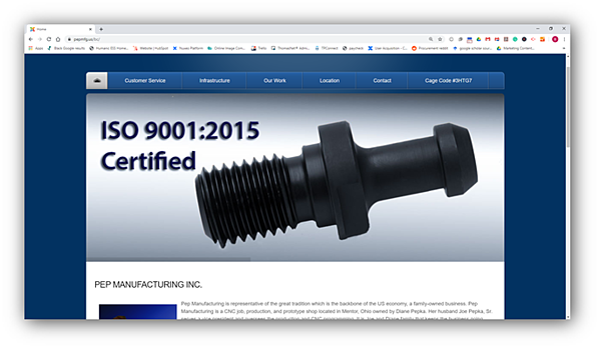 PEP Manufacturing, Inc.
