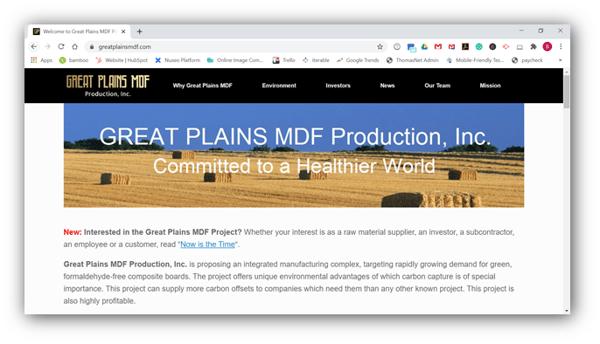 Great Plains MDF Production, Inc.