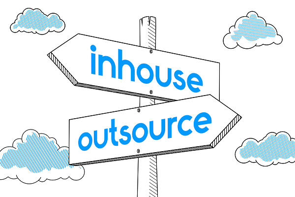inhouse vs outsourcing industrial marketing