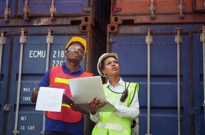 Pair of African American industrial workers