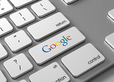 Google search - SEO traffic keyboard