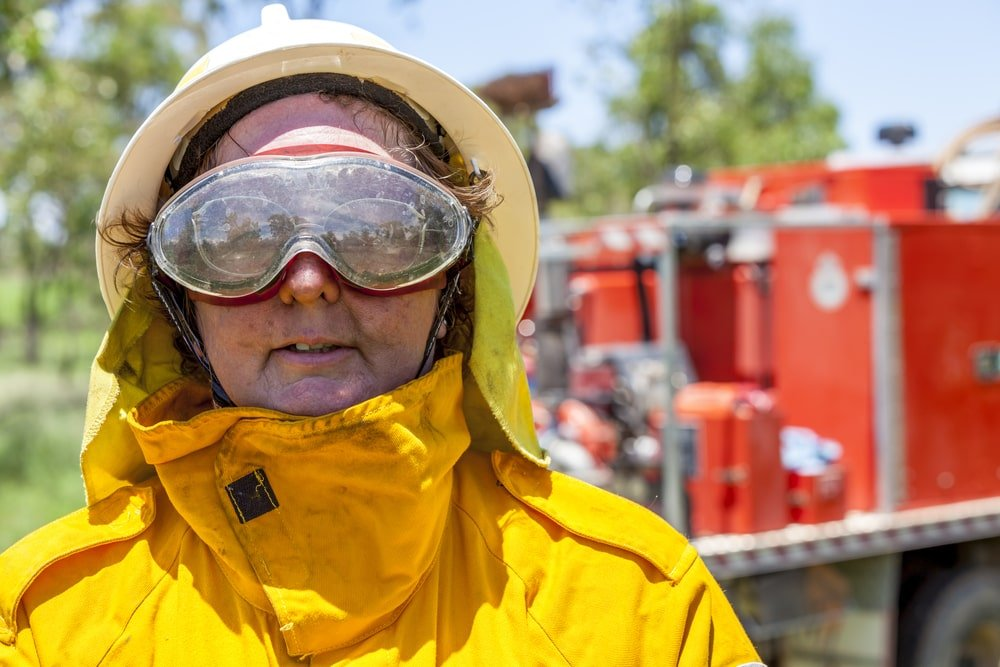 Fire fighters' goggles